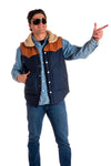 Guy's puffy reversible vest