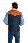 Men's reversible puffy vest