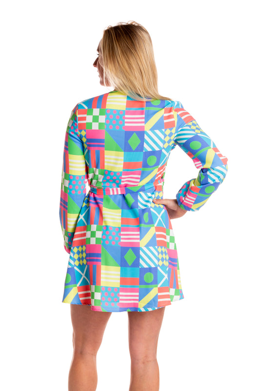 jockey flag derby warp dress
