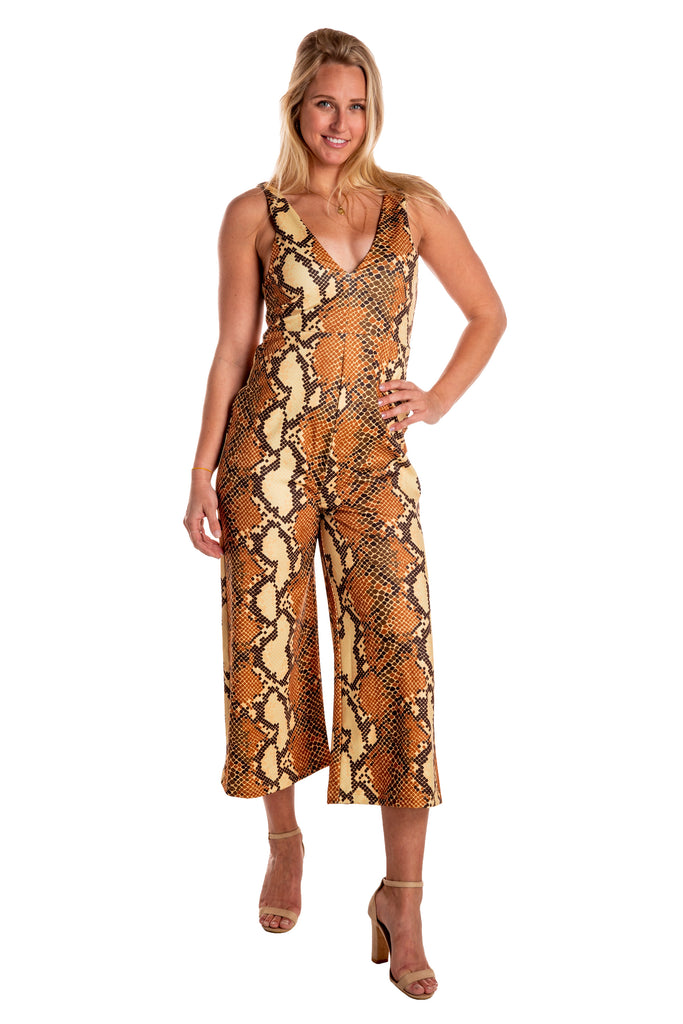 The Antidote Snakeskin Jumpsuit