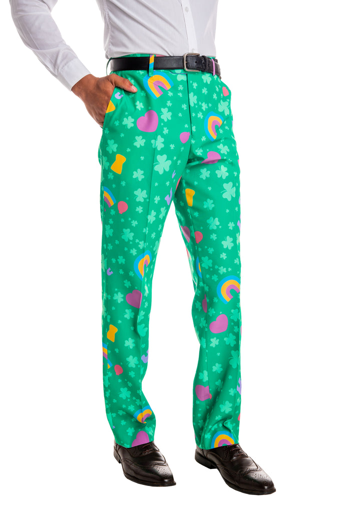 The Luck Of The Charms | Green Lucky Charms Print Pants