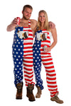 matching usa overalls for couples