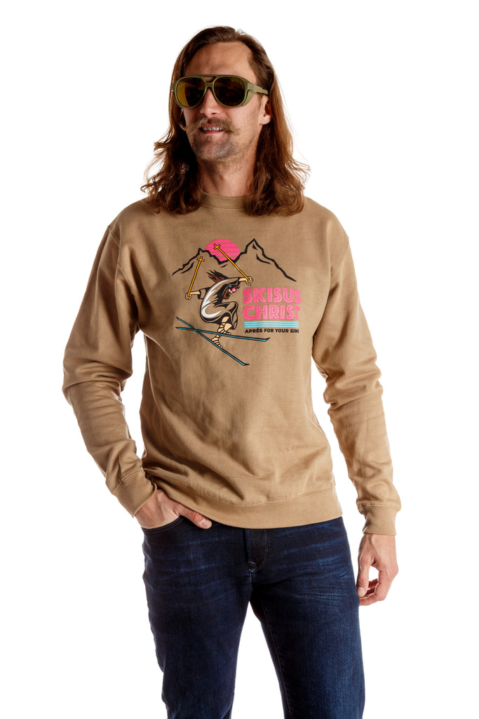 The Skisus Christ Gaper Day Ski Sweatshirt