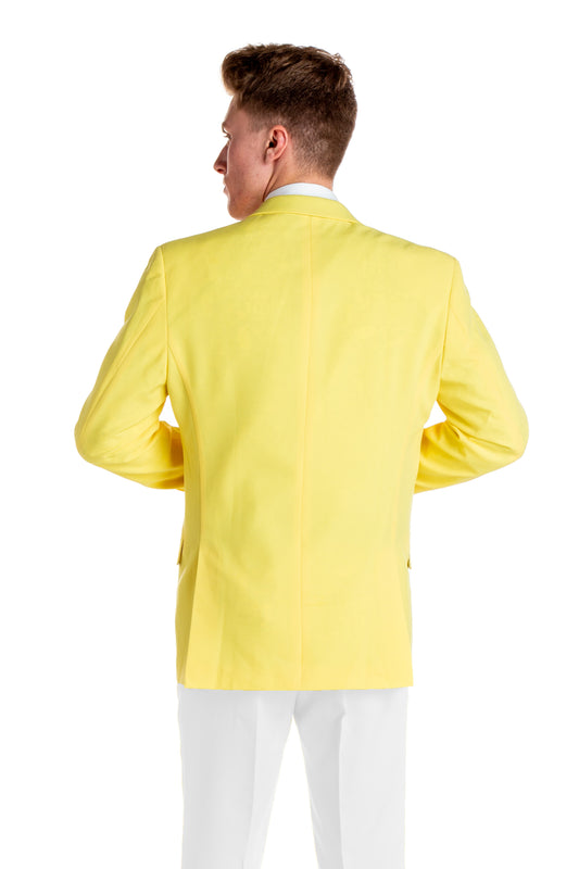 yellow summer suit blazer for men