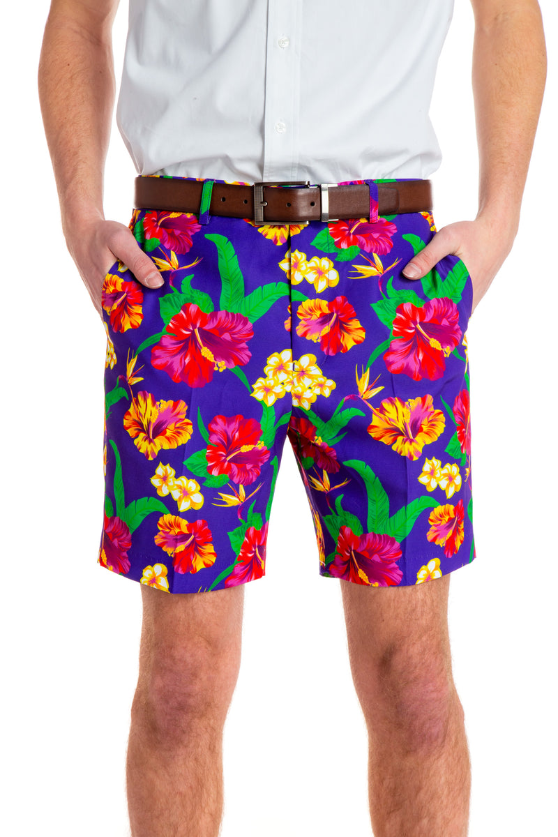 Floral Hawaiian shorts for men