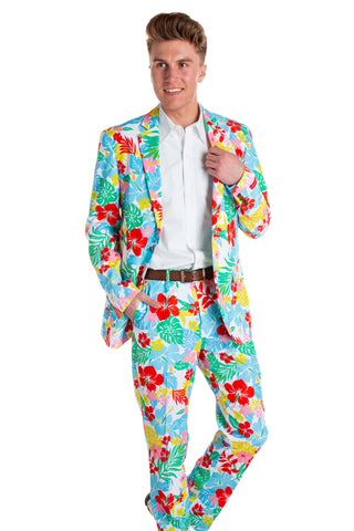 bd5770ad725 The Dose of Daisies White Hawaiian Floral Blazer