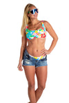 hawaiian print swimsuit for women