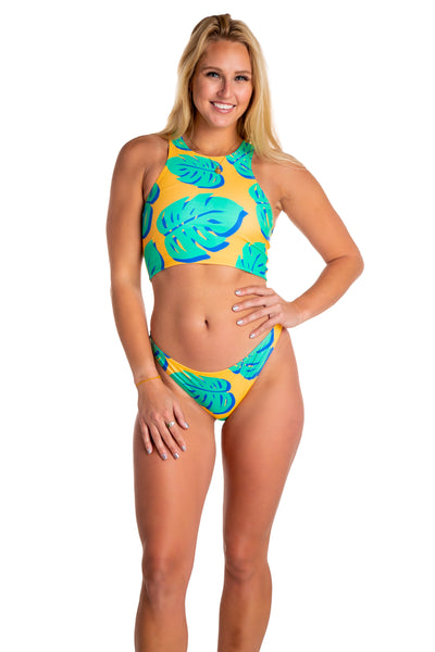 5538041ec27b1 Women's palm tree 2 piece bikini. women's 80s style swimsuit bottoms