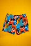 men's hawaiian print swim trunks