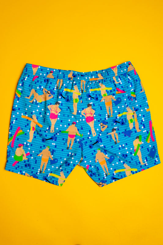 blue boardshorts men