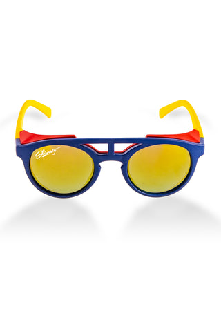 3c103163ab3c The Sun Cafe | Navy and Yellow Glacier Sunglasses | Pre-Order | Delivery  June Returning Soon