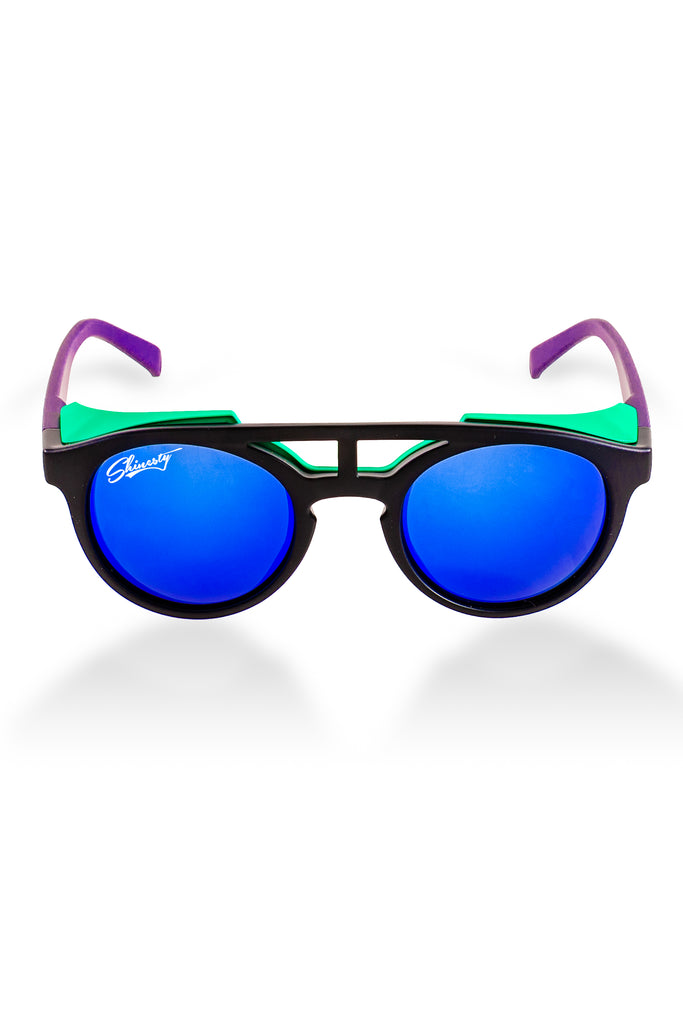 The Protector Blinders | Black And Purple Glacier Sunglasses