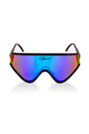 Black polarized sunglasses for men