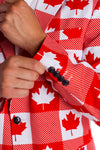 Maple leaf suit blazer for men