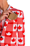 Canadian theme summer blazer for men