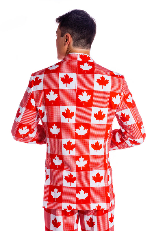 Canadian theme suit for men
