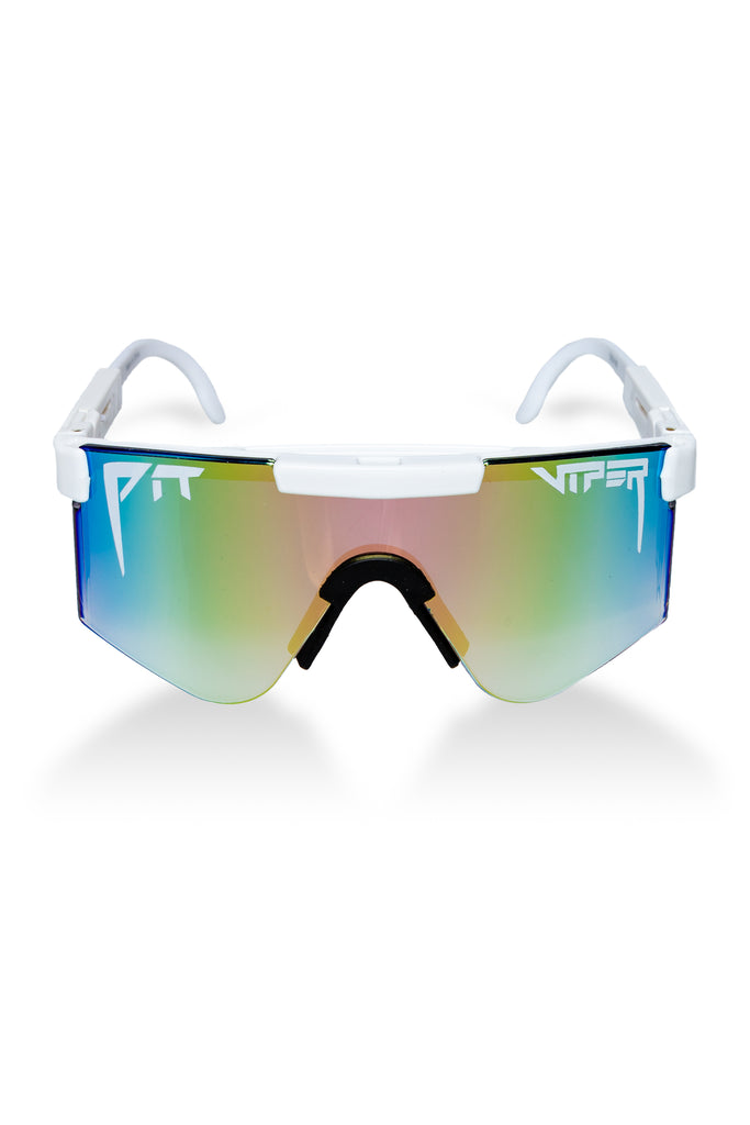 The Miami Nights | White Mirrored Pit Viper Sunglasses