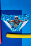 Swim brief for men swimsuit pool pattern