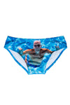 Swimwear for men blue pattern