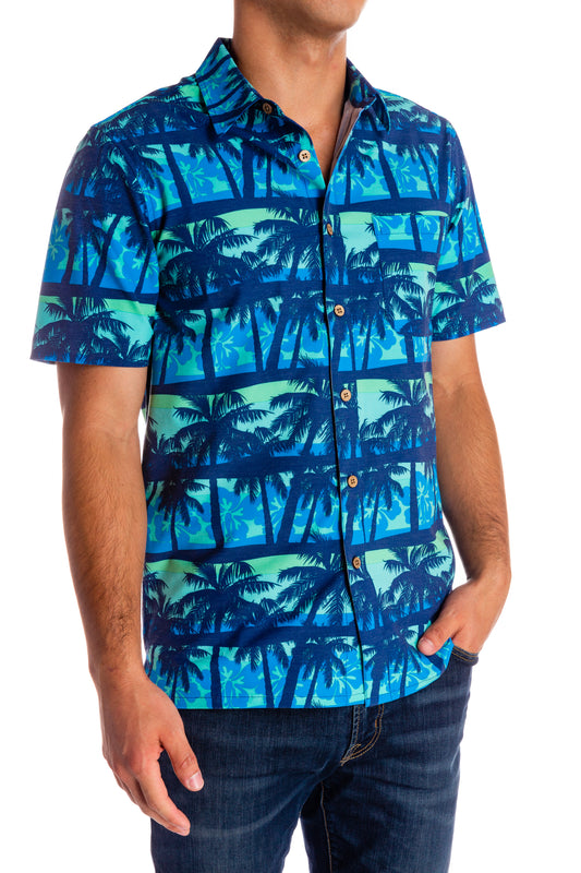 Blue Vintage Hawaiian Shirt
