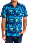 Blue Hawaiian Vintage look button up shirt