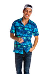 Men's Vintage Blue Hawaiian shirt