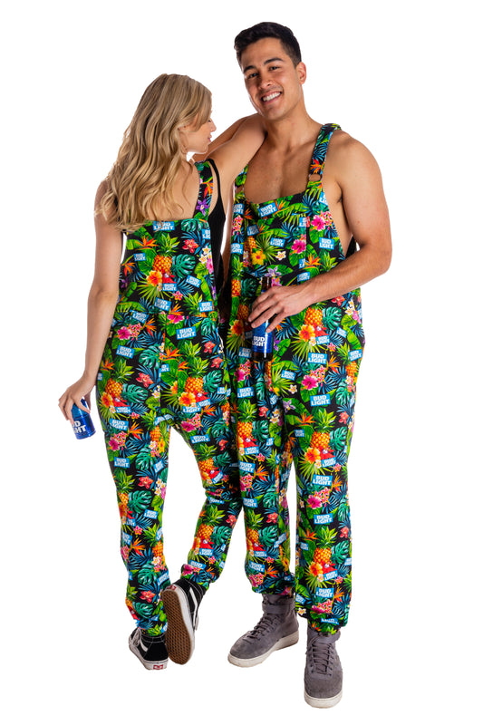 Matching Bud Light Pajama Overalls