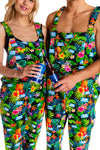 hawaiian bud light pajama overalls