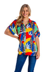 Women's Mosaic Hawaiian Party Shirt