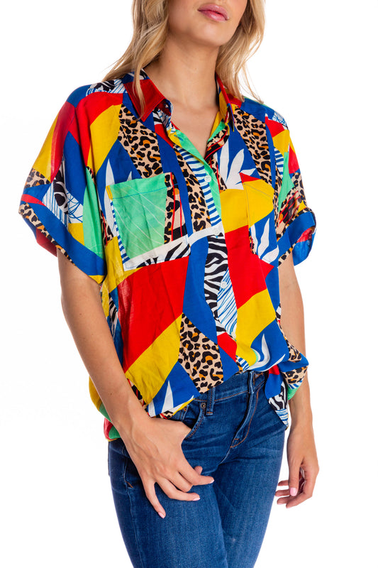 Abstract Mosaic Hawaiian Party Shirt