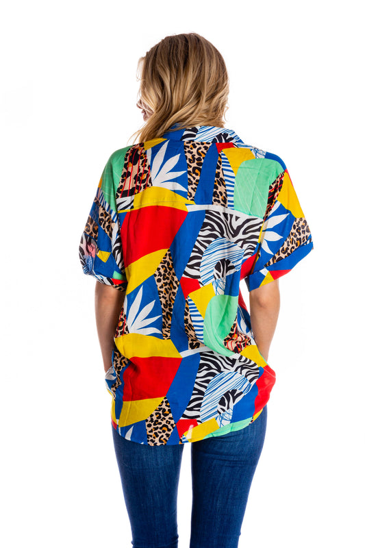 Women's Hawaiian Mosaic Party Shirt