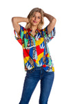 Women's Mosaic Hawaiian Shirt