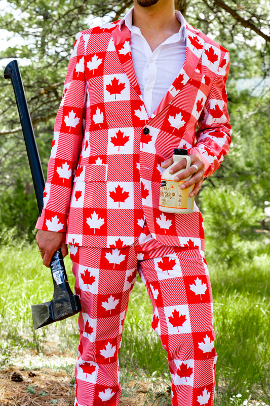 Canadian theme blazer for men