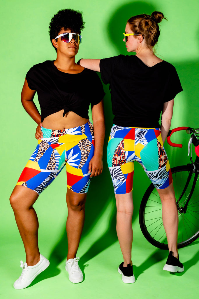 The Lucid Jungle | Primary Mosaic Bike Shorts