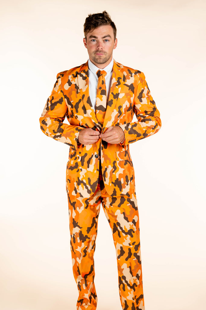 The Hunt Good Times | Orange Camo Suit