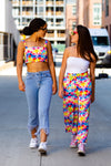 Tie Dye Crop Top with Matching Culotte Pants