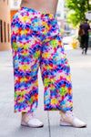 Tie Dye Culotte Pants with Pockets