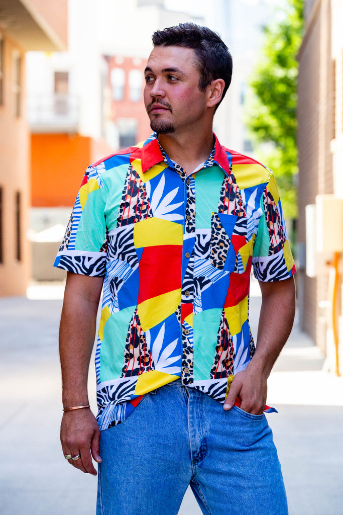 The Investigator | Abstract Mosaic Vintage Hawaiian Shirt