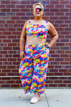 Tie Dye Crop Top with Matching Pants