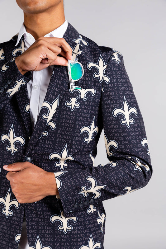 New Orleans Saint Black and Gold Blazer