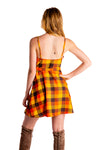 wrap dress fall colored plaid for women