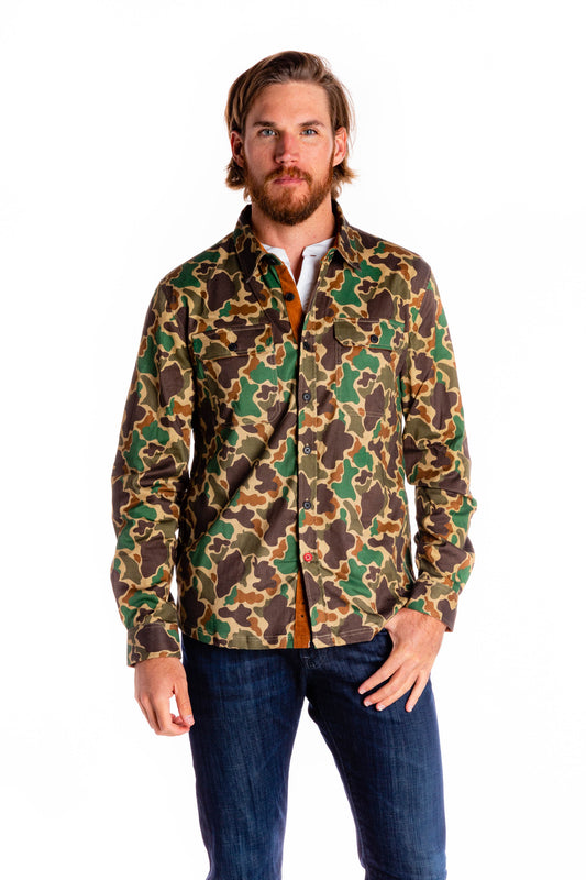 Men's camouflage long sleeve stretch shirt