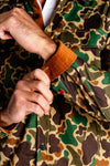 Long sleeve camouflage party shirt cuff detail