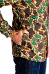 Camouflage long sleeve party shirt