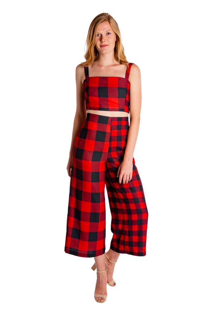 The Lumber Jackie | Buff Check Culotte Pants