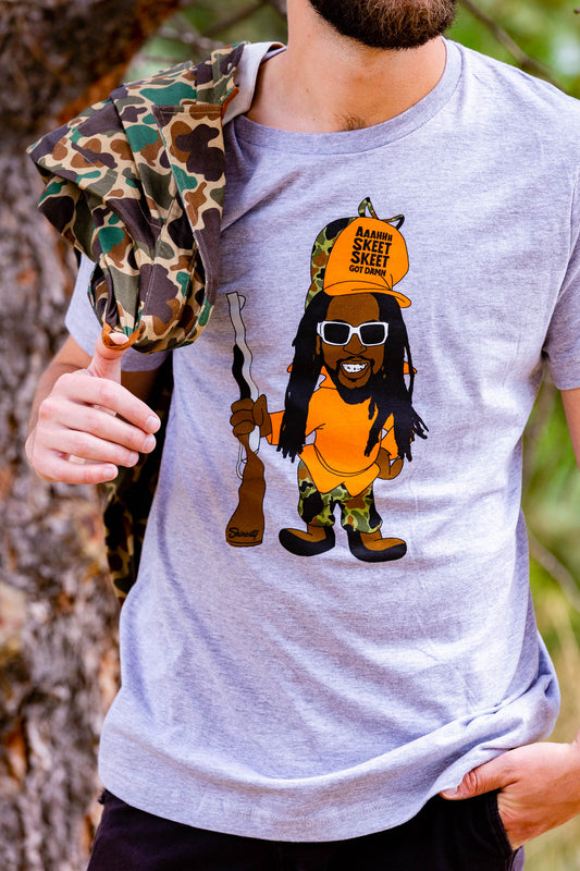 Get Low | Man With Dreads Hunting T-Shirt