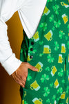 men's st. patrick's themed pajamaralls