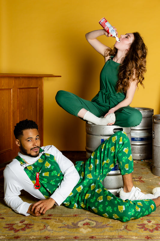 Pajama overalls for st. patricks day