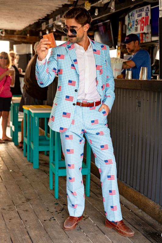 The I Like It In Hyannis | USA Gingham Suit