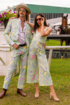matching paisley derby jumpsuit and suit